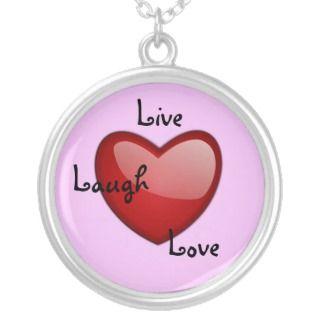 Live laugh love necklace