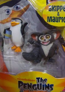 The Penguins Madagascar Skipper and Maurice Toy Figures New