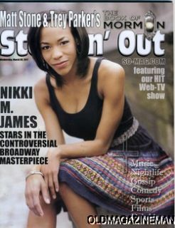 Nikki M James The Book of Mormon Steppin Out Magazine Free Shipping