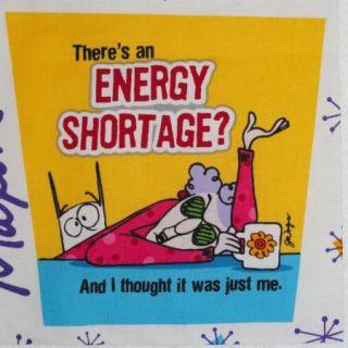 Energy Shortage Diva Sassy Saying 7 Quilt Block Square Coffee Mug Dog