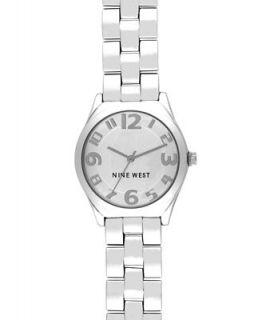 Nine West Watch, Womens Silver tone Bracelet NW 1207SVSB