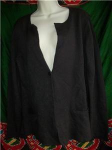 Eileen Fisher Brown Metallic Cardigan Size M Sweater Size S