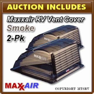 Maxxair Vent Cover Smoke 2 Pack Brand New Lexan Max Air RV Trailer