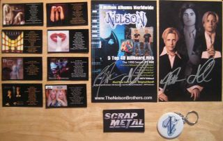 Matthew Gunnar Nelson Album Magnets Logo Key Ring and Signed Postcards