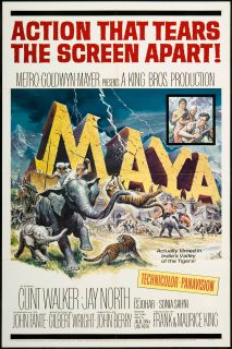 Maya 1966 Original U s One Sheet Movie Poster