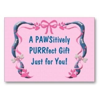 Lover Personalized Gift Card / Tag Pink Business Cards