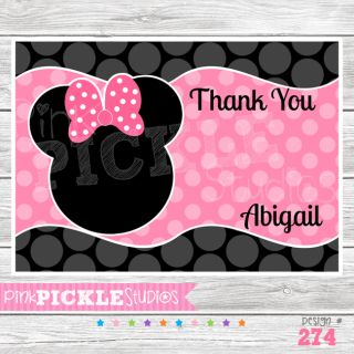 Personalized Birthday Party Invitation or Thank You Card 274