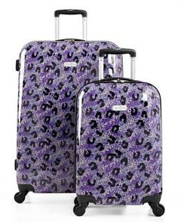 Jessica Simpson Luggage, Leopard Spinner Hardside