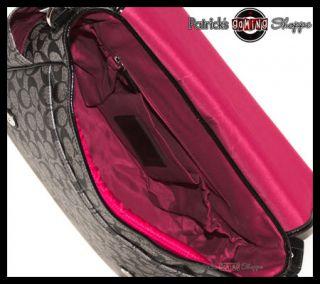 BNWT Coach Signature PVC Baby Bag Messenger 18373 Black Purse Laptop