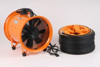Maxxair Heavy Duty 12 inch Cylinder Fan with 20 Foot Vinyl Hose HVHF