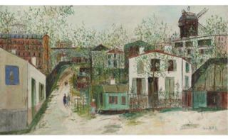 the name of Maurice Valadon, Maurice Utrillo specilized in painting