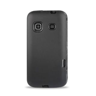 All Blk Impact Hard Cover Case Samsung Galaxy Prevail Precedent Phone