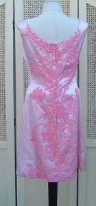 Vtg 50s Maxwell Shieff Pink Satin Wiggle Dress Jacket