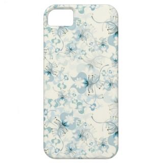 Elegant Vintage Blue and White Floral iPhone 5 Cases