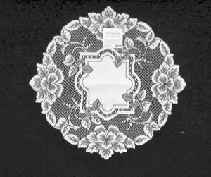 Lace Heirloom 16 Round Doily Table Runner White Battenberg