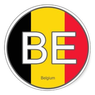 Belgium Euro Sticker