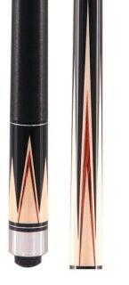 McDermott S12 Star Maple Black Pool Billiards Cue Stick