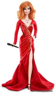 2010 Reba McEntire Fancy Red Dress Barbie T7658