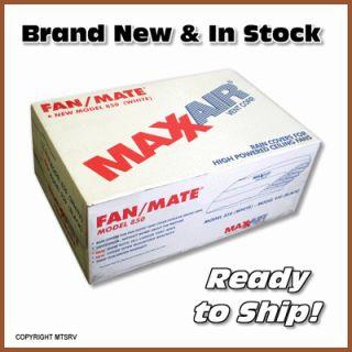MAXXAIR Fan/Mate Model 850 Vent & Ceiling Fan Rain Cover   WHITE   RV