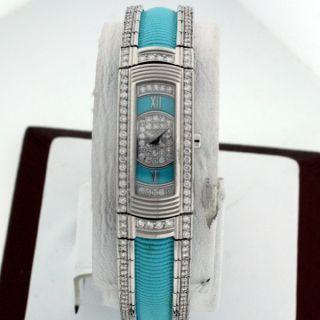 Mauboussin 18K White Gold All Diamond New $36 412 00 Turquoise Dial