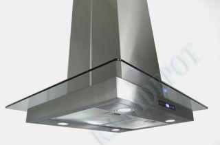 30 Island Mount Stainless Steel Range Hood 2nd Generation LED screen