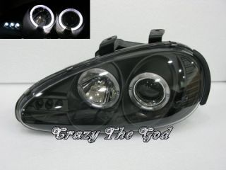 Mazda MX3 MX 3 1992 1998 92 98 Angel Eye Projector LED Headlight Black