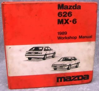 1989 Mazda 626 MX 6 Workshop Manual Factory Maintenance Book Repair