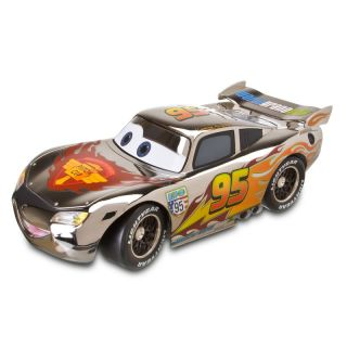 Disney Store Pixar Cars Lightning McQueen Chrome Edition Diecast 1 43