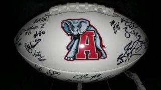 2012 Alabama Crimson Roll Tide Team Signed Football Certificate Proof