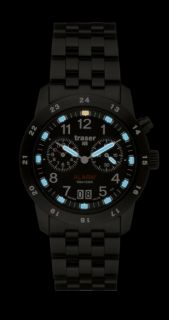 Traser H3 Big Date Pro Alarm Blue Tritium Watch