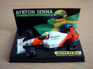 LANG f1 143 Ayrton Senna McLaren Honda Mp4/7 1992 Alain prost Burno