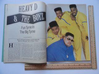 Hop Rap Magazine 1989 N w A MC Lyte Ice Cube Run DMC Word Up
