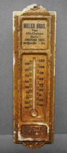 Vintage Metal Thermometer Allis Chalmers Mcminnville Or