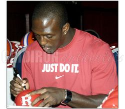 Devin McCourty Patriots Autographed Rutgers Mini Helmet