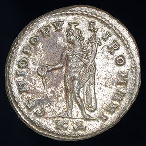An extremely fine ancient Roman bronze follis of Emperor Maximian