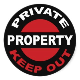 Private Property Sticker