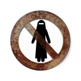 No more burqa sticker