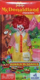 McDonaldland Character Doll Figure Toy McDonalds RONALD McDONALD Clown