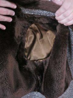 Vtg 60s McGregor Wool Tweed Mens Lined Over Coat 40