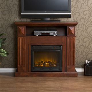 Cherry TV Stand Media Center Electric Fireplace FA9311E
