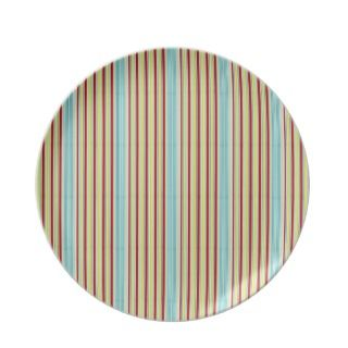 Summer Fun Tiny Stripe Melamine Plate