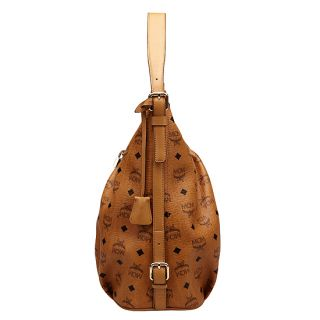 MCM Vintage Visetos Hobo Bag Cognac Women Handbag Authentic New NWT
