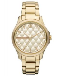 Armani Exchange Watch, Womens White Silicone Wrapped Rose Gold