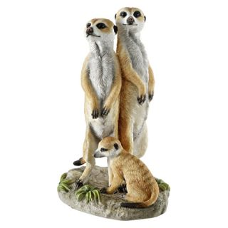 Charming Meerkat Family Statue Home Garden Outdoor Sculpture Medium