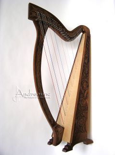 NEW 36 STRINGS MEGHAN IRISH CELTIC HARP w/ LEVERS ~ 3 BOOKS FREE