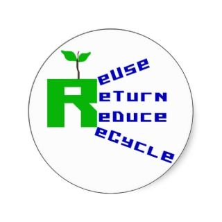 Reuse Return Reduce Recycle Sticker