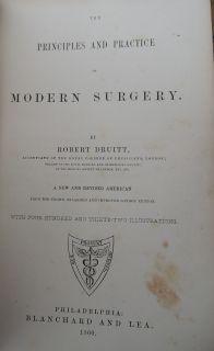1860 Old Antique Civil War Medical Book Surgery Medicine Union Surgeon
