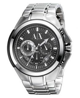 Armani Exchange Watch, Mens Stainless Steel Bracelet 45mm AX1039