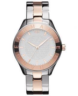 Armani Exchange Watch, Womens Two Tone Stainless Steel Bracelet