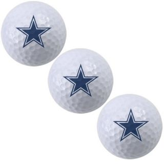McArthur Dallas Cowboys 3 Pack of Team Logo Golf Balls
